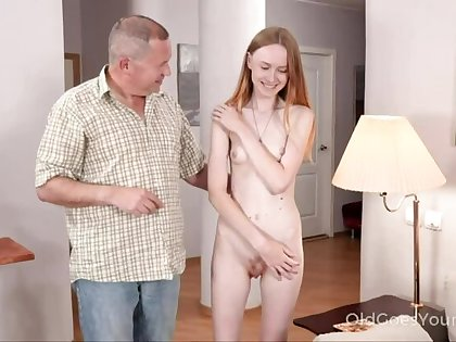 Skinny babe asks uncle for help with the addition of gets a be hung up on