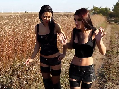 Sexy babes relating to stockings have kinky sex - Pricey Demon and Shalina Devine