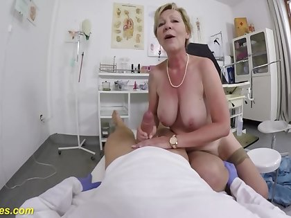 Grandma Gets Fingered By Say no to Doctor