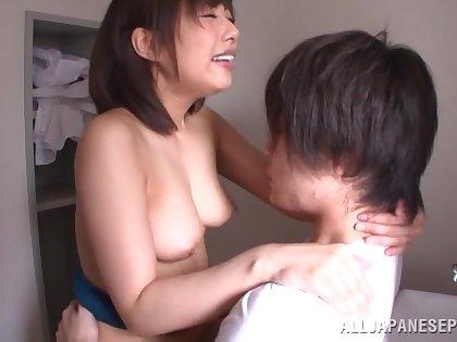 Fervent fucking in efforts on a enter with cute Japanese Kanari Tsubaki