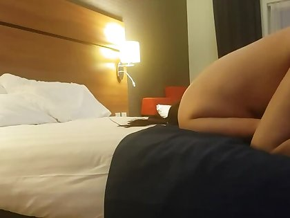 thing son liking thing mom pussy into hotel room