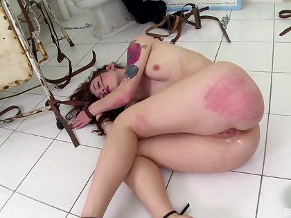 Severe ass spanking and anal sex for Misha Cross