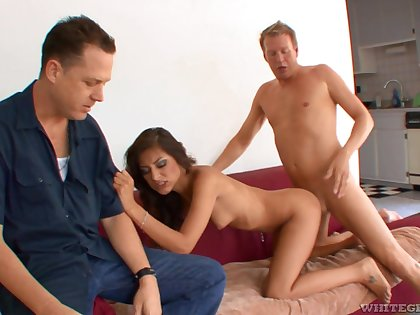 AJ Estrada fucked hard in home cuckold scenes