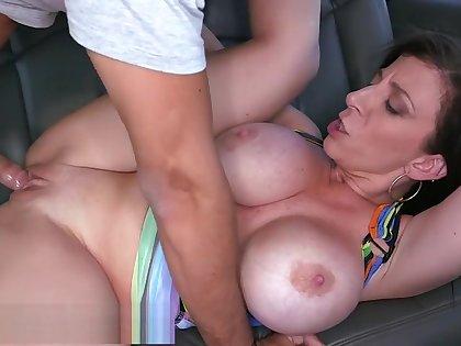 BANGBROS - MILF Sara Jay's Huge Ass Fucked On The Bang Bus in Miami
