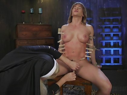 Sexy nun acts dominant with dutiful lesbian sinner