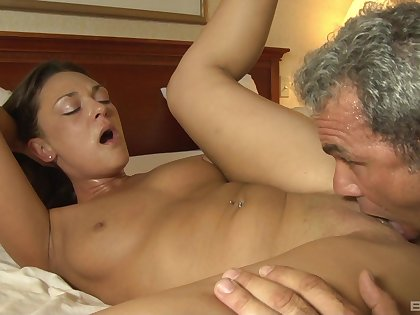 An older guy knows how to make ambrosial Olivia Wilder squirm