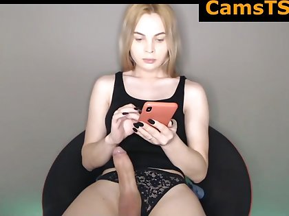 Beautiful Russian Shemale With Big Breasts And Dildo