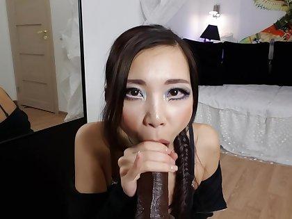 Asiandreamx - Bbc Fuckmachine Povside Cum With Me