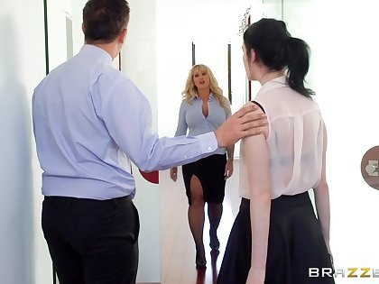Thick mature fucked at the office jibe stripping be incumbent on the innovative guy