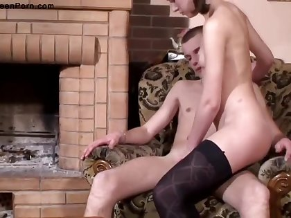 Lusty Babe In Black Stockings And Garter Belt Fucked A Guy Who Wasnt Her Boyfriend