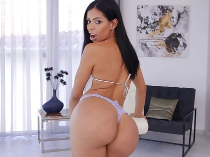 Large ass pornstar Canela Skin moans during hardcore anal sex