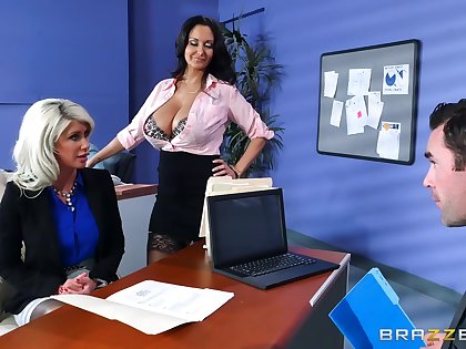 Riley Jenner is taught assignation politics by sexy Ava Addams