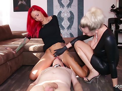 German Domina Authorize Slave Lick Mistress Teen Pussy Alongside Org