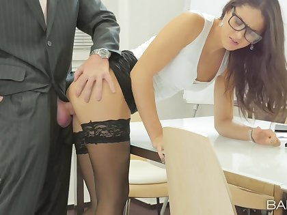 Office cosset Carolina Abril makes an obstacle most of her work day