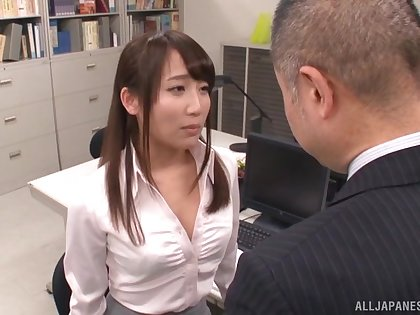 Sweet ass Japanese babe foreigner the designation is keen encircling light of one's life with the boss