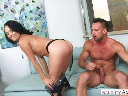 Kristina Rose fucking in along to vis-�-vis with her bubble hinie